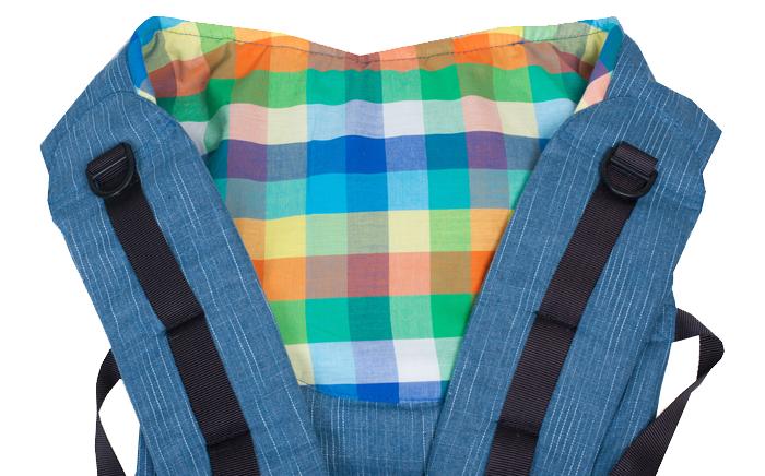 Слинг-рюкзак Чудо-Чадо «Бебимобиль Хип», разноцветный
