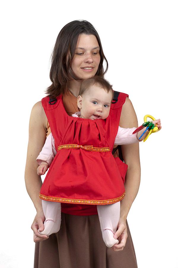 Слинг-рюкзак Чудо-Чадо «Дочкомобиль» - красный