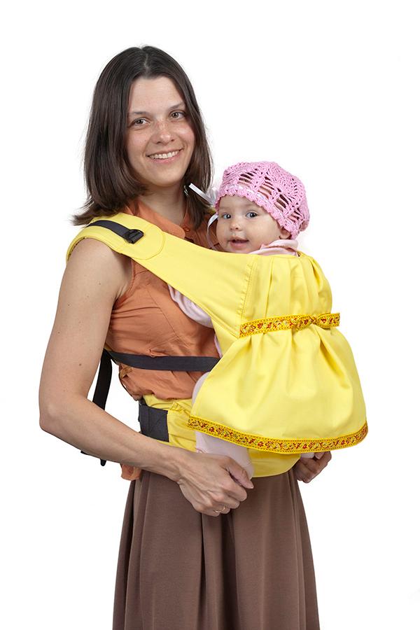Слинг-рюкзак Чудо-Чадо «Дочкомобиль» - желтый