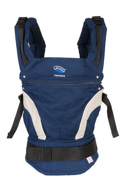 Эргономичный слинг-рюкзак Manduca (Мандука) NewStyle Navy (Синий)