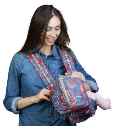 Рюкзак-кенгуру «BabyActive Choice» круги/красный