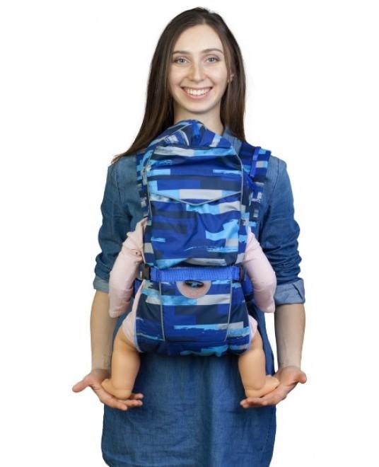 Рюкзак-кенгуру «BabyActive Choice» палитра/синий