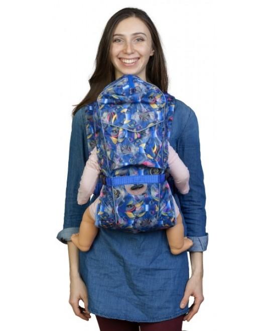 Рюкзак-кенгуру «BabyActive Choice» неон/синий
