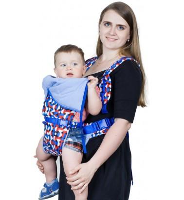 Рюкзак-кенгуру «BabyActive Choice» карнавал/синий