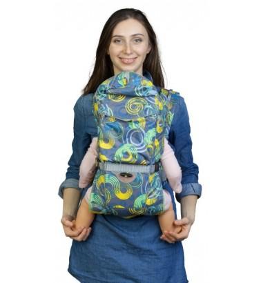 Рюкзак-кенгуру «BabyActive Choice» круги/изумруд