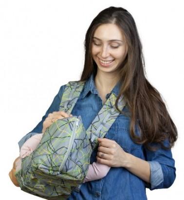 Рюкзак-кенгуру «BabyActive Choice» электроника/серый