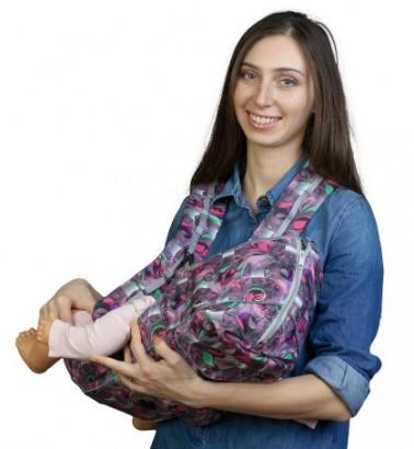 Рюкзак-кенгуру «BabyActive Choice» неон/малина