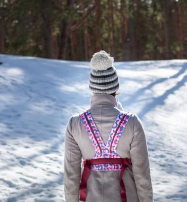 Рюкзак-кенгуру «BabyActive Choice» карнавал/розовый