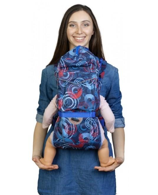 Рюкзак-кенгуру «BabyActive Choice» круги/синий