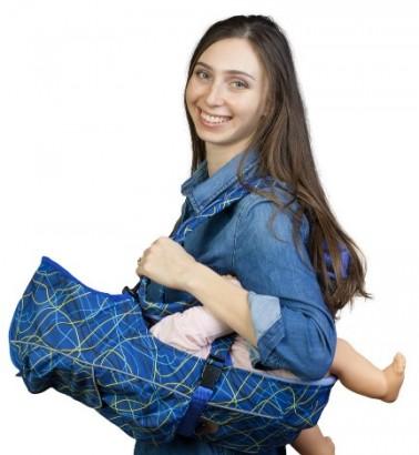 Рюкзак-кенгуру «BabyActive Choice» электроника/синий