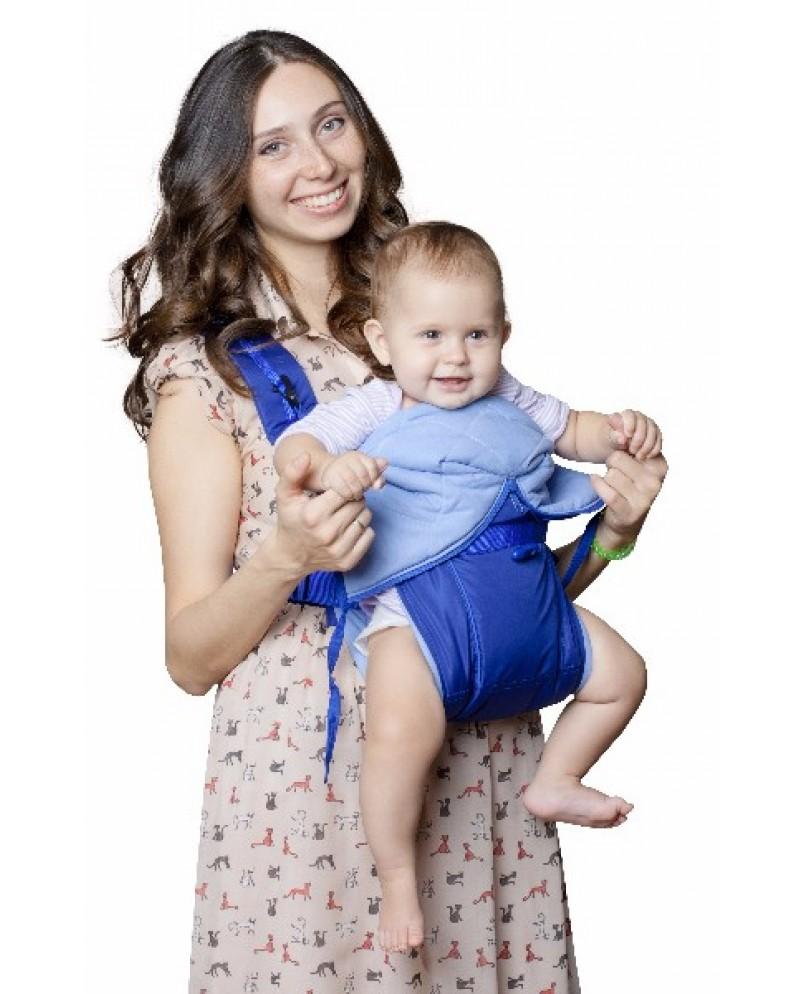Рюкзак-кенгуру «BabyActive Lux» синий
