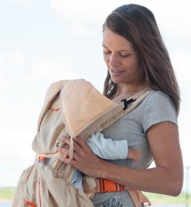 Рюкзак-кенгуру «BabyActive Lux» бежевый