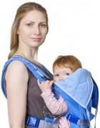 Рюкзак-кенгуру «BabyActive Lux» голубой