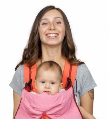 Рюкзак-кенгуру «BabyActive Lux» вишнево-коралловый