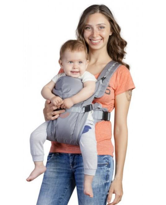 Рюкзак-кенгуру «BabyActive Simple» серый
