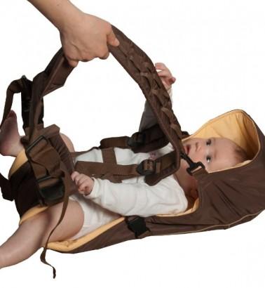 Рюкзак-кенгуру «BabyActive Simple» шоколадный