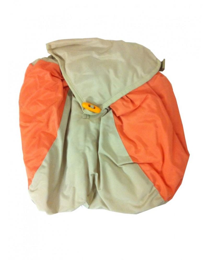 Мешочки на ножки к рюкзаку-кенгуру - бежево-оранжевые (комплект)