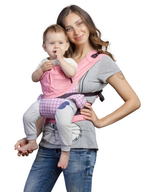 Слинг-рюкзак «Бебимобиль Премьер» розовый