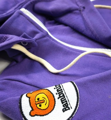 Комбинезон из футера фиолетовый