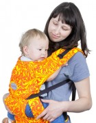 Слинг-рюкзак «Бебимобиль Позитив» красно-жёлтый
