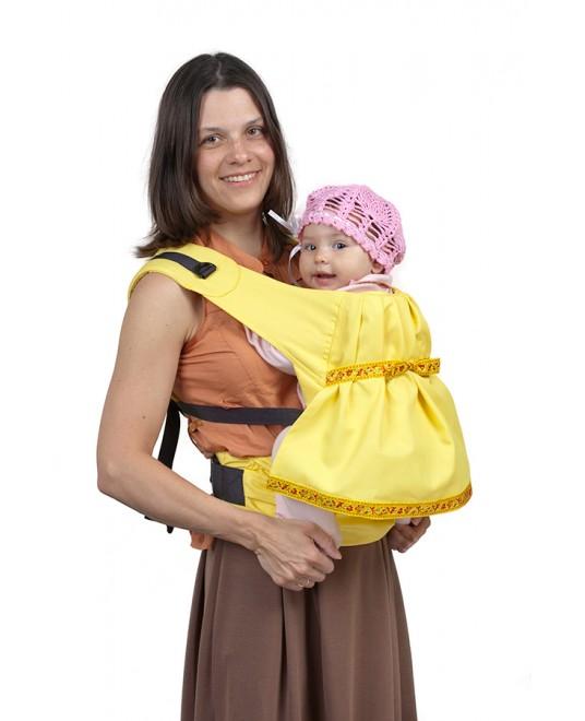 Слинг-рюкзак «Дочкомобиль» жёлтый