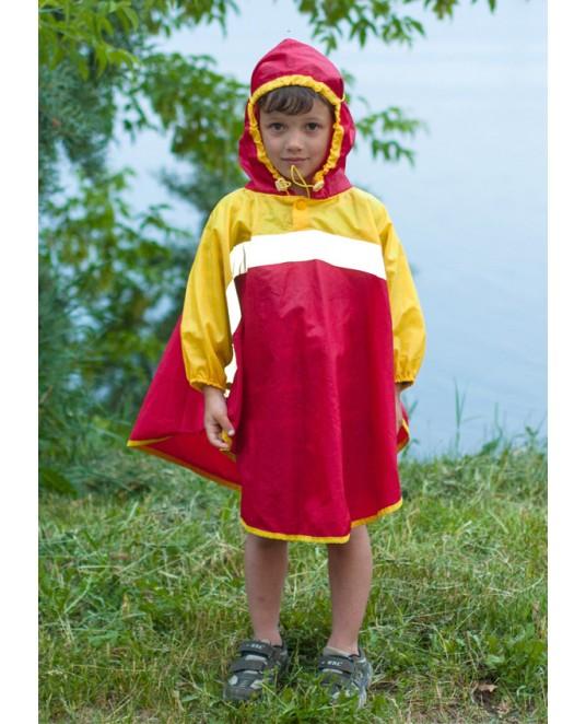 Дождевик «Светлячок» красный/жёлтый