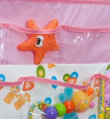 Кармашки в ванную и детскую Капитошка - розовый