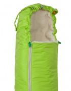 Конверт меховой «Классика» зеленый