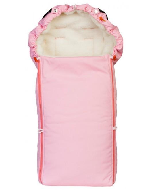 Конверт меховой «Комфорт» розовый-детский