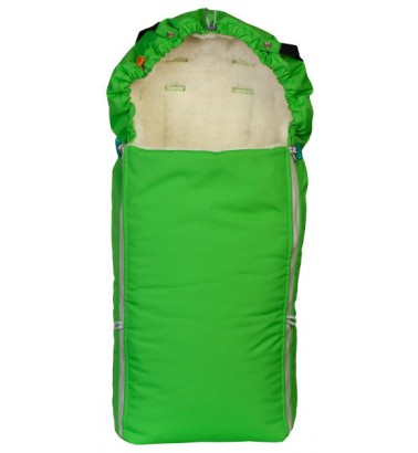 Конверт меховой «Комфорт» ярко-зеленый
