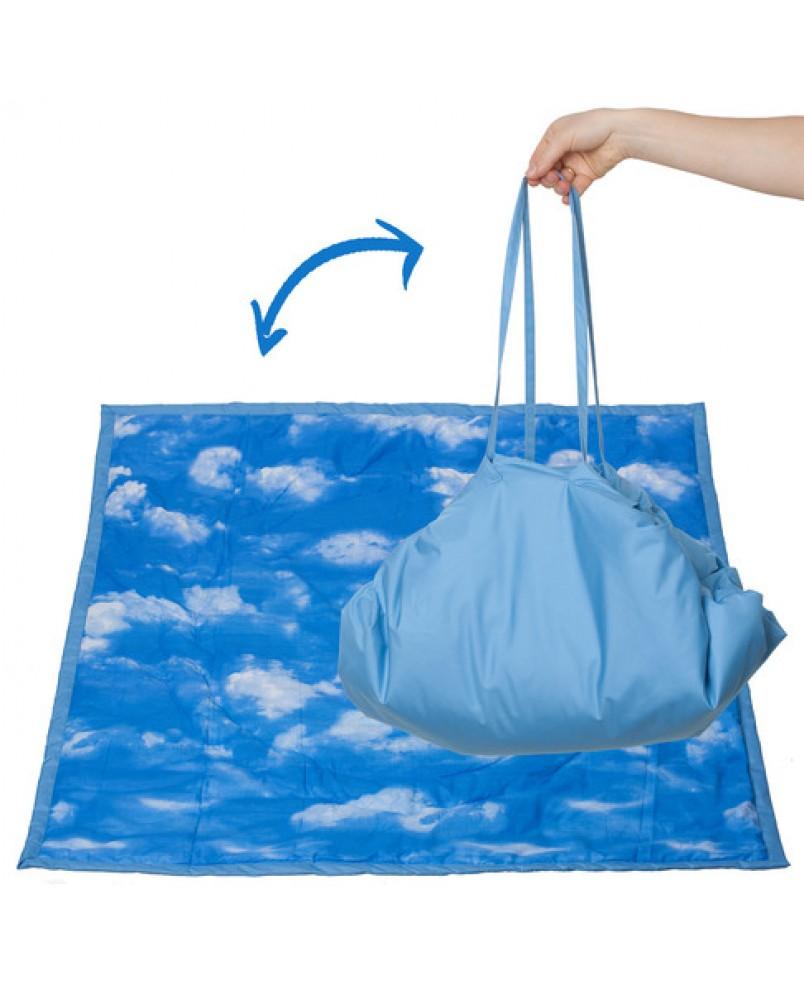 Коврик-сумка Чудо-Чадо - голубой/облака