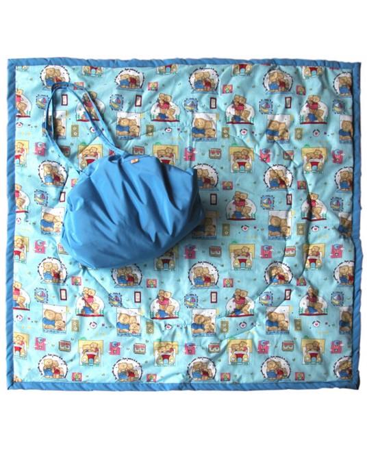 Коврик-сумка Чудо-Чадо - голубой/мишки