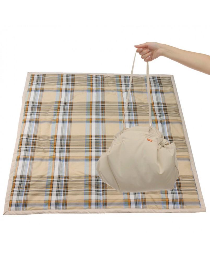 Коврик-сумка Чудо-Чадо - бежевый/клетка