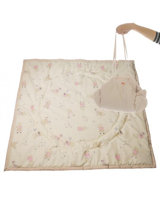 Коврик-сумка Чудо-Чадо - бежевый/бегемотики