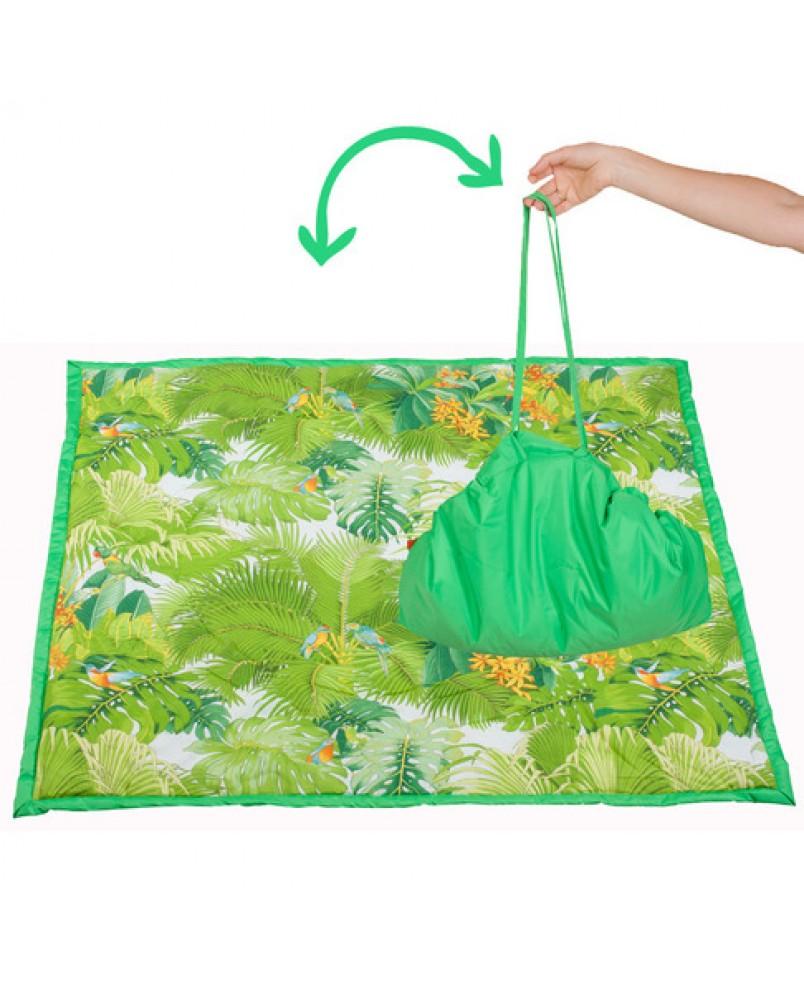 Коврик-сумка Чудо-Чадо - зеленый/джунгли