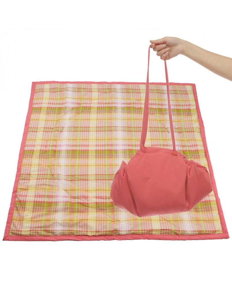 Коврик-сумка Чудо-Чадо - коралловый/клетка