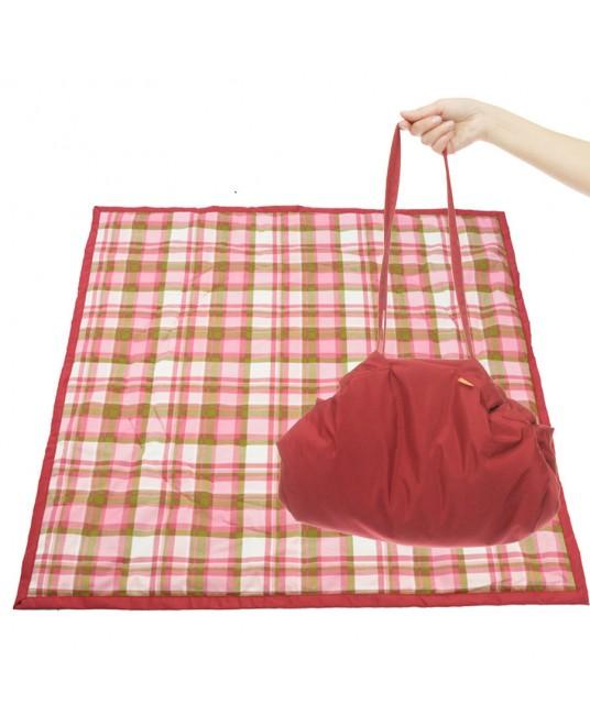 Коврик-сумка Чудо-Чадо - бордовый/клетка