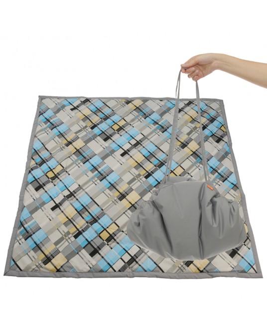 Коврик-сумка Чудо-Чадо - серый/клетка