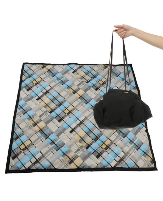 Коврик-сумка Чудо-Чадо - черный/клетка