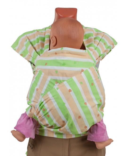 Май-слинг «Детство» сердечки зеленый