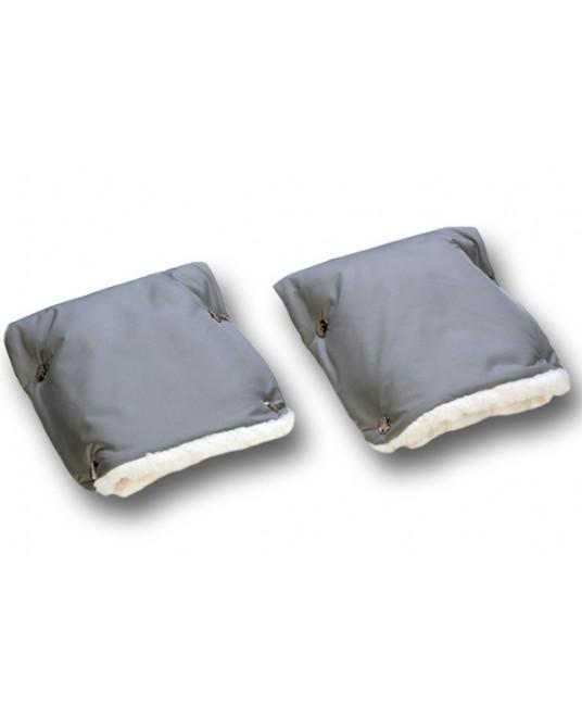 Муфты-рукавички на коляску серые