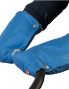 Муфты-рукавички на коляску голубые