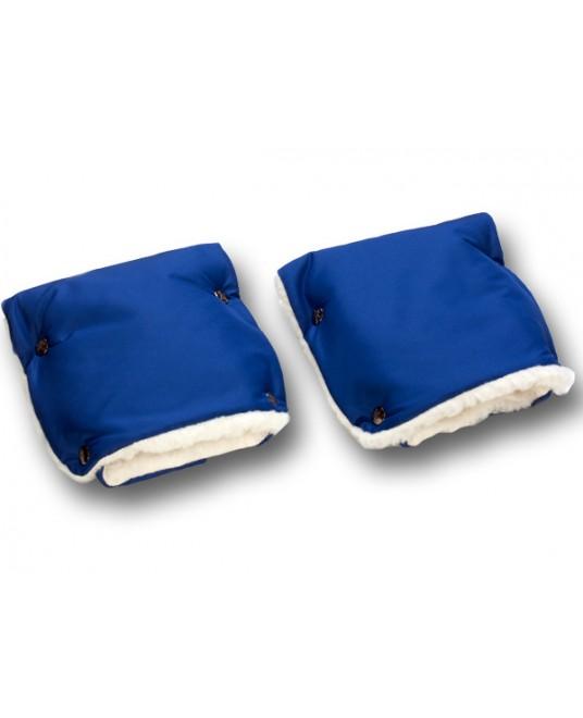 Муфты-рукавички на коляску темно-синие