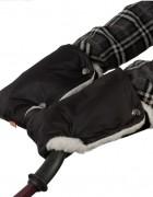 Муфты-рукавички на коляску черные