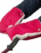 Муфты-рукавички на коляску вишнёвые