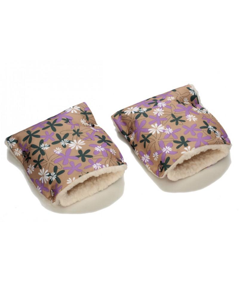 Муфты-рукавички на коляску ромашки