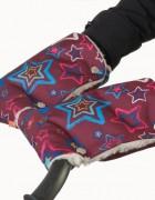 Муфты-рукавички на коляску звезды