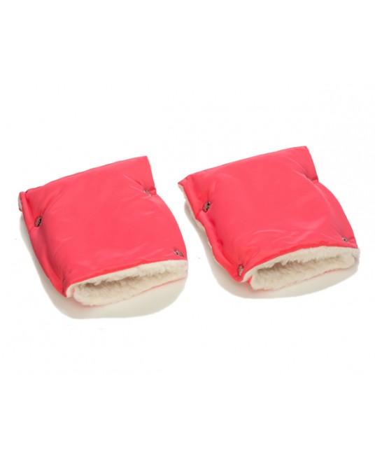 Муфты-рукавички на коляску коралловые