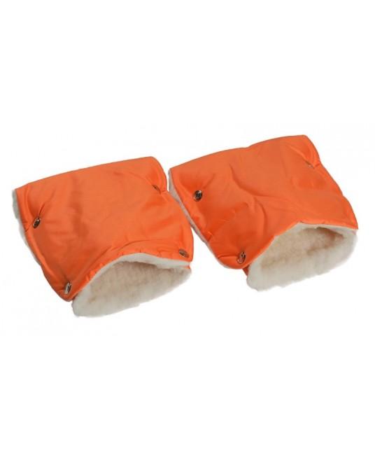 Муфты-рукавички на коляску оранжевые