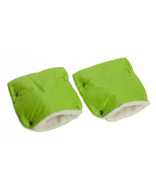 Муфты-рукавички на коляску зеленые